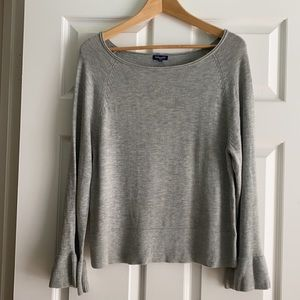 SPLENDID cashmere blend long sleeve shirt sweater